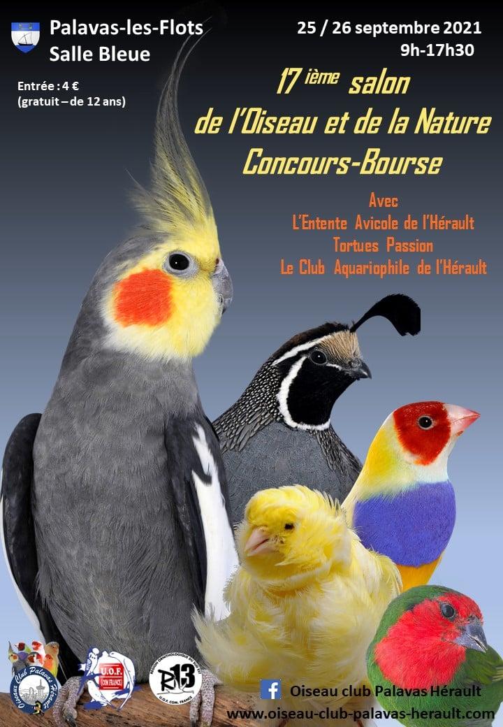 17 ième salon de l'oiseau et de la nature 25/26 Septembre 2021